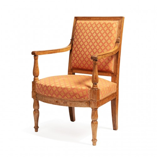 Set of 2 bergeres & 2 armchairs from the empire period From the palace of fontainebleau -