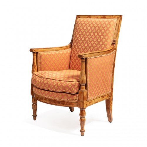 19th century - Set of 2 bergeres & 2 armchairs from the empire period From the palace of fontainebleau