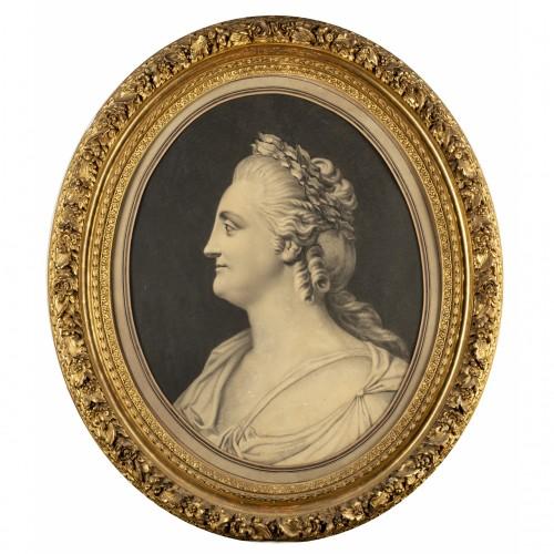 Portrait of Empress Catherine II - circle of Fedot I. SHUBIN (1740-1805),
