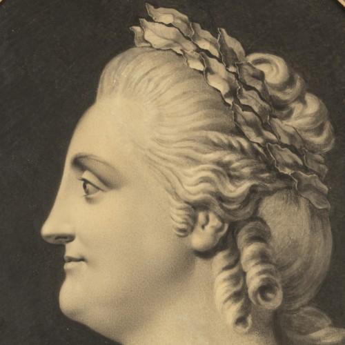 Portrait of Empress Catherine II - circle of Fedot I. SHUBIN (1740-1805), - Paintings & Drawings Style Louis XVI