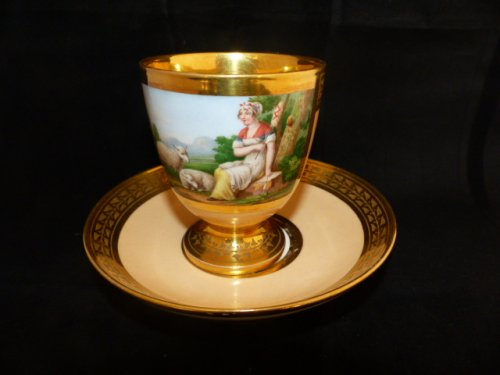 Cup porcelain of Paris early 19th century