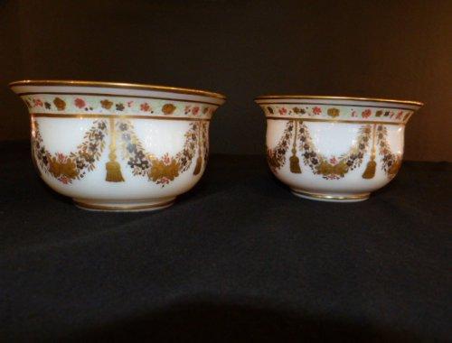 Opaline desvignes pair of bowls charles x period