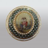 Drageoir gold enamelled switzerland end of 18th century