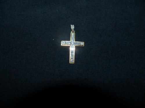 Antique Jewellery  - Cross in gold and Platinum set with diamonds