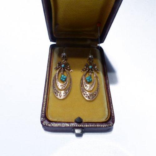 Earrings of the Napoleon III period