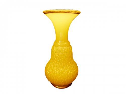 Baccarat, yellow opaline vase