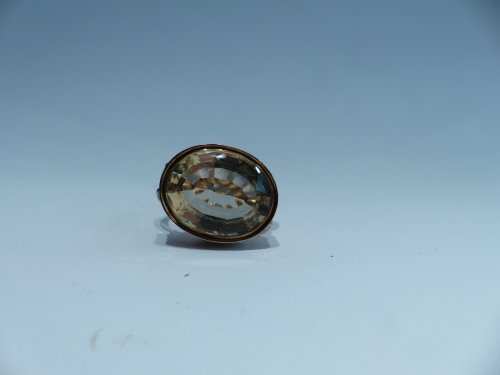 Seal, gold and citrine pendant, French Restauration period - Objects of Vertu Style Restauration - Charles X