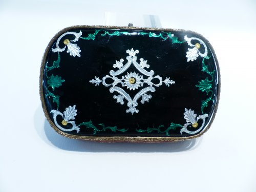 Bresse French enamel purse - Objects of Vertu Style Art Déco