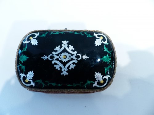 Bresse French enamel purse - Art Déco