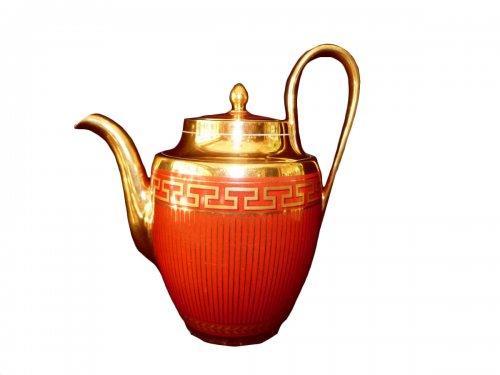 Teapot porcelain of Sèvres 1814-1824