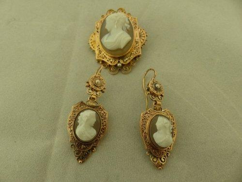 Cameos and gold finery,  Napoleon III period - Napoléon III