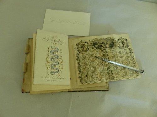 Louis-Philippe period dance card -