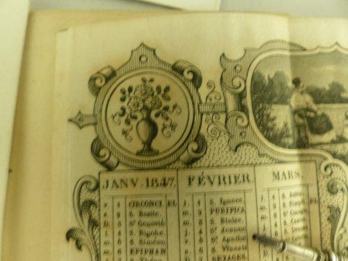19th century -  Louis-Philippe period dance card