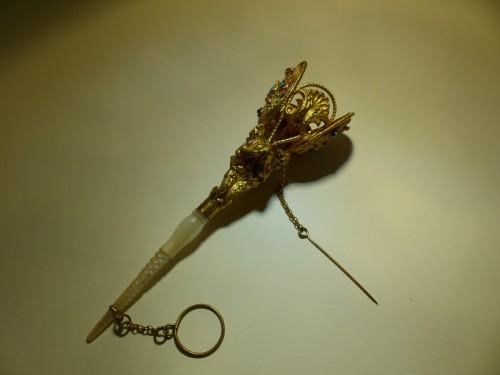 Objects of Vertu  - enamel, garnets, turquoise posy holder tussie mussie