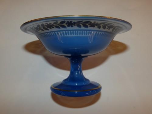 Antiquités - Cup in opaline Charles X period