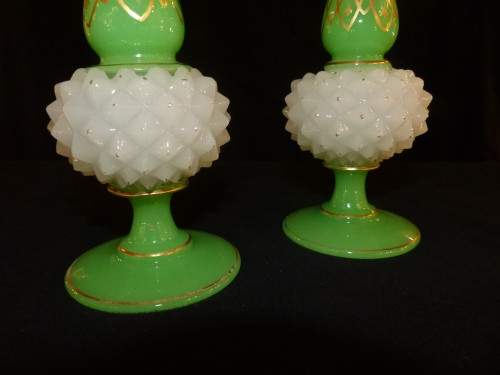 Baccarat - Pair of pineapple vases - Glass & Crystal Style Napoléon III