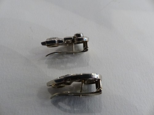 Antique Jewellery  - Pair of earrings in Platinum and diamonds