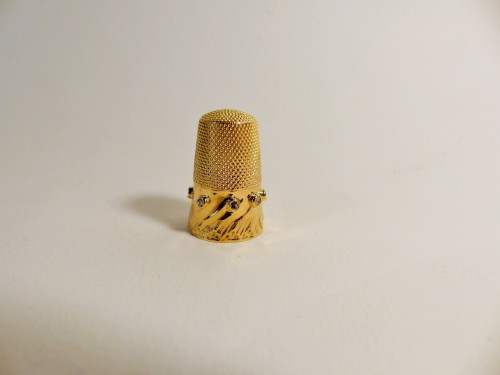 Thimble in gold and diamonds - Objects of Vertu Style Art nouveau