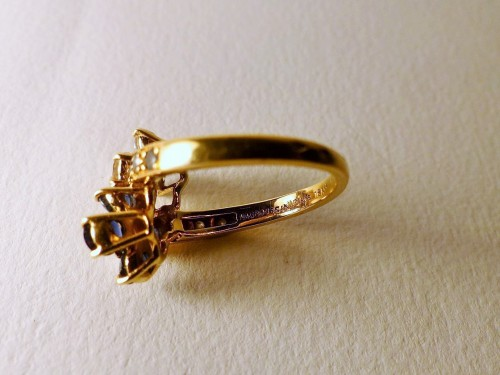 """MAUBOUSSIN ring """" you and me"""" sapphires and diamonds -"""