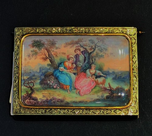 19th century - Vermeil and miniature dance card