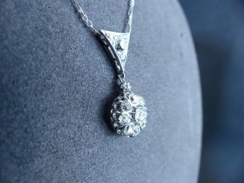 Antique Jewellery  - Gold pendant, Platinum and diamonds circa 1900