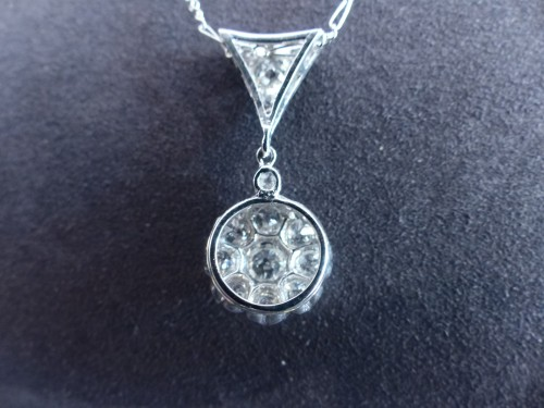 Gold pendant, Platinum and diamonds circa 1900 -