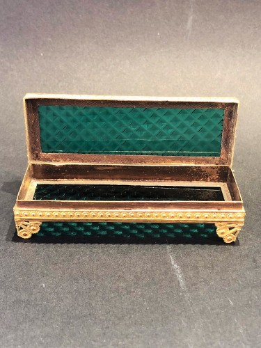 Cristal and gilded bronze Charles X period box - Objects of Vertu Style Restauration - Charles X