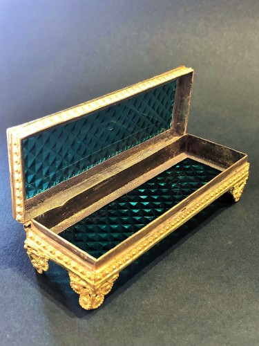 Objects of Vertu  - Cristal and gilded bronze Charles X period box