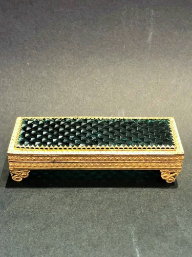 19th century - Cristal and gilded bronze Charles X period box