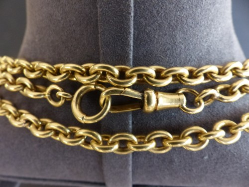 Important from the nineteenth century gold necklace -