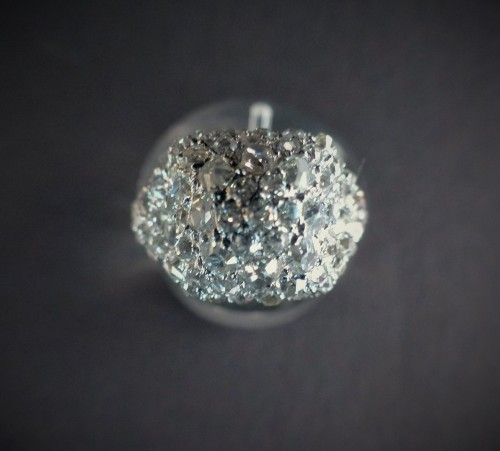 Antique Jewellery  - Platinum and diamond dome ring