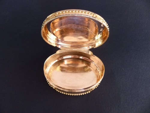 Objects of Vertu  - Snuffbox in gold colors by Claude François Thierry