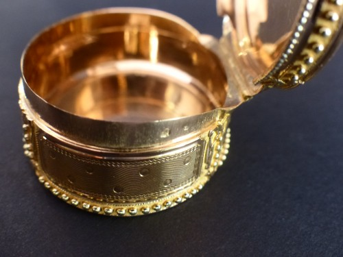 Snuffbox in gold colors by Claude François Thierry - Restauration - Charles X