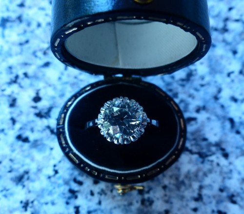 Ring in Platinum and diamond ,76 carat - Antique Jewellery Style Art Déco