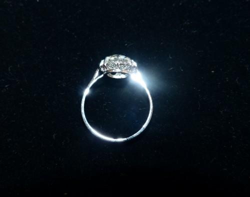 20th century - Ring in Platinum and diamond ,76 carat