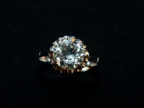 Art Déco - Ring in Platinum and diamond ,76 carat