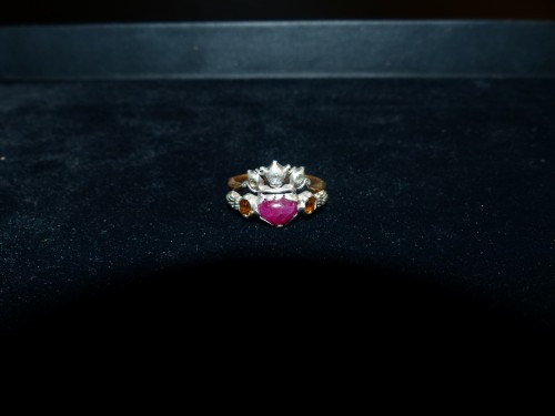 gold, silver and tourmaline antique engagement ring - Antique Jewellery Style Louis XVI