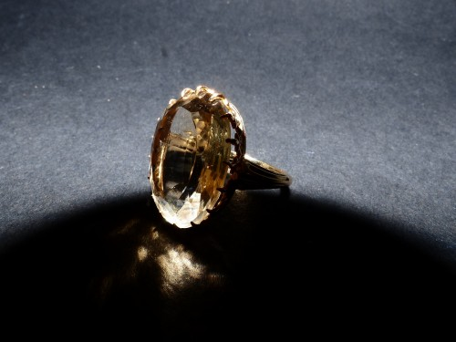 Yellow gold ring with citrine - Antique Jewellery Style