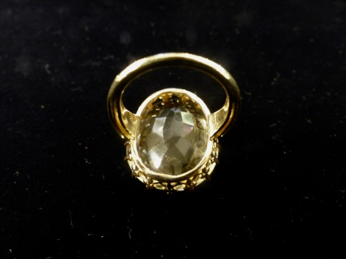 Antique Jewellery  - Yellow gold ring with citrine