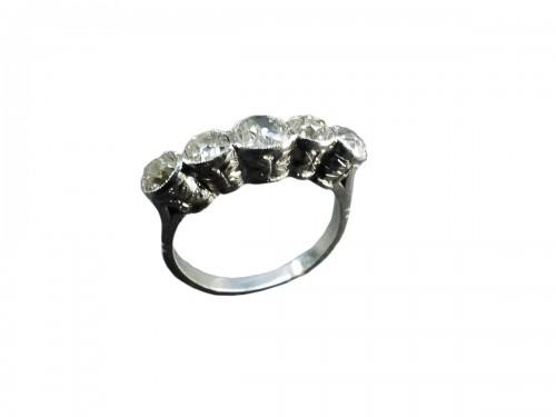 Platinum and Diamond River Ring, Art Deco Period