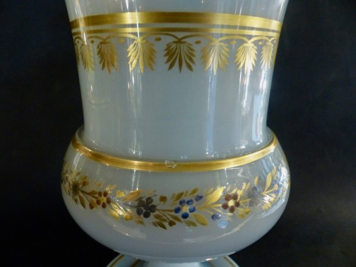 Glass & Crystal  - Important Medicis Vase in Opaline from Charles X period