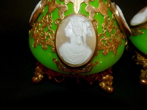 Cameos  and Opaline scent perfume bottles - Napoléon III