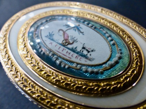 Objects of Vertu  - Ivory and Gold Patch Box, Louis XVI period