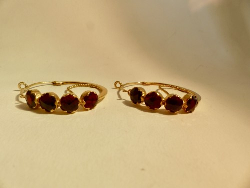 """Pair of gold earrings, """"Poissardes"""" - Antique Jewellery Style"""