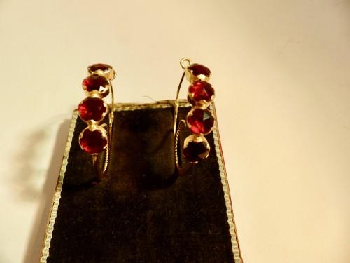 """Pair of gold earrings, """"Poissardes"""" -"""