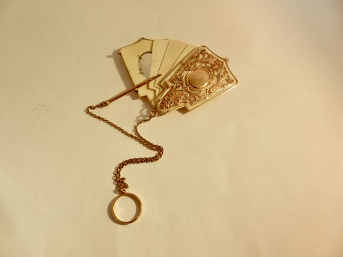 Gold and ivory dance card - Objects of Vertu Style Napoléon III