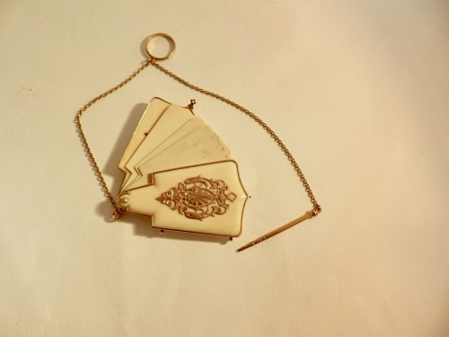 Gold and ivory dance card -