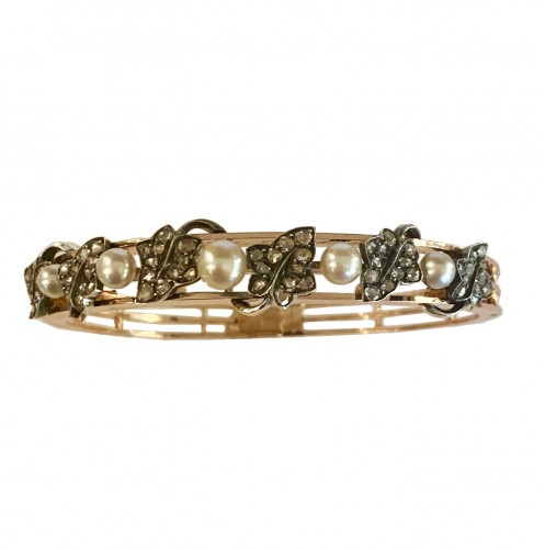 Maison Froment-Meurice - Bracelet en or, argent, diamants et perles fines