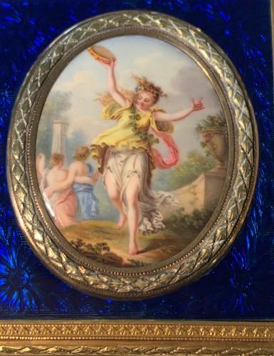 Carnet de Bal dit étui à tablettes en or, émail et diamants - Louis XVI
