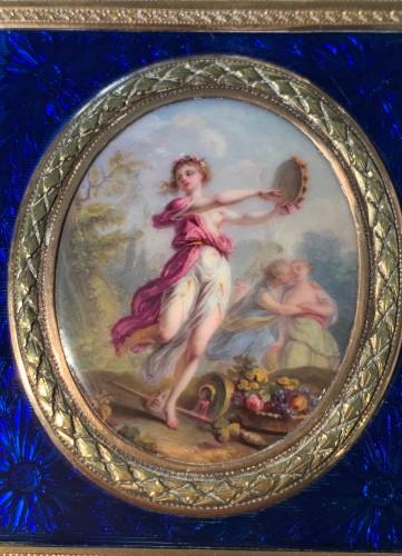 Louis XVI - Carnet de Bal dit étui à tablettes en or, émail et diamants